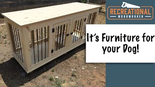 Double Dog Kennel - Build Your Own Wooden Dog Crate Furniture With Easy To Follow Plans
