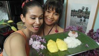MANGO mit KLEBEREIS - Sticky Reis with Mango THAI DESSERT