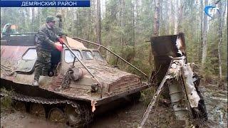 Весенний этап массовых поисковых работ начался с подъема штурмовика Ил-2 в Демянском районе