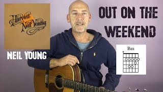 Neil Young - Out on the weekend - Guitar lesson by Joe Murphy