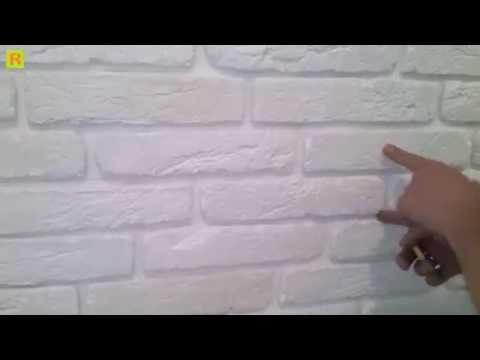 Как клеить клинкером гипсовый кирпичек