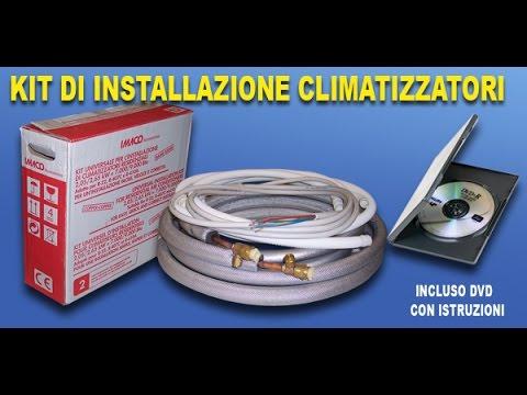kit di installazione climatizzatore fisso murale FAI DA TE