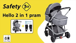 Safety 1st HELLO 2 IN 1 PRAM instructions video (stroller convertible into a pram)