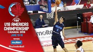 Dominican Republic v Argentina - Quarter-Finals - Re-Live (ESP) -FIBA U18 Americas Championship 2018