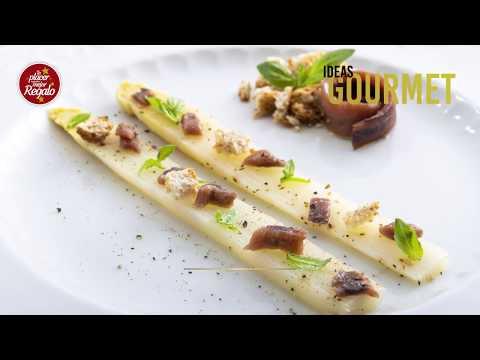Recetas Gourmet con Fabián León: Espárragos blancos con anchoas y albahaca.
