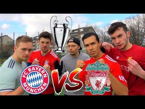 FC BAYERN vs LIVERPOOL FUßBALL CHALLENGE   CHAMPIONS LEAGUE