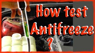 How to test antifreeze strength CORRECTLY