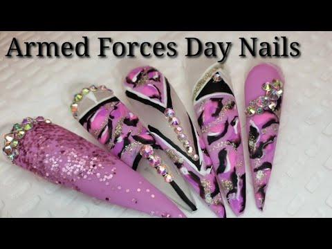 Download Acrylic Nails Tutorial Pink Camo Nails Acrylic