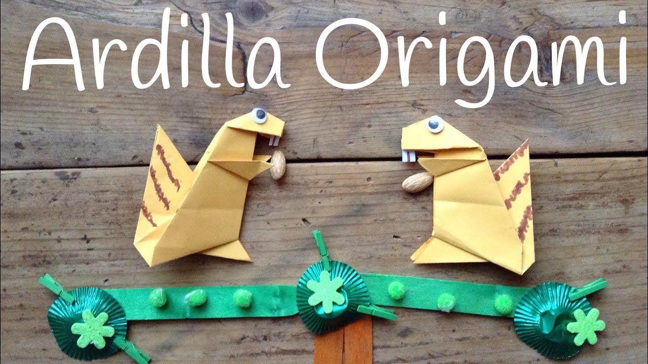 Ardilla de papel paso a paso | Origami fácil para niños