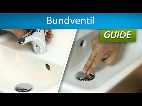 Se her, hvordan du monterer en push-open og en løft-op bundventil
