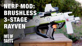 NERF GUN MOD: Brushless Rayven mod (Extreme FPS)