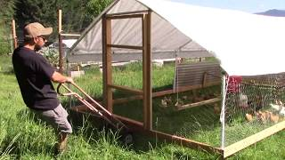 Moving The Chicken Tractor | Feeder And Waterer System