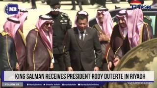 King Salman receives President Duterte in Riyadh