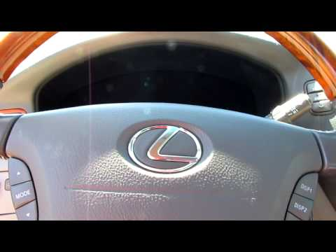 2001 Lexus LS 430 Start up and telescoping steering wheel