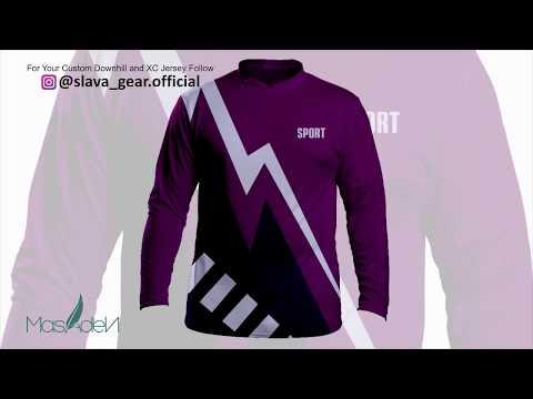 Downhill Jersey Design Idea With CorelDraw