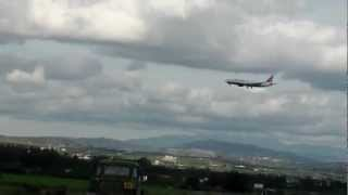 preview picture of video 'Timi Beach Plane Coming In To Land At Pafos International Airport. PFO.'