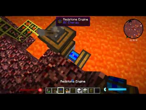 Pumping Lava From the Nether using Buildcraft Pump and Ender Storage - Minecraft Minute