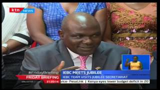 IEBC Chairman-Wafula Chebukati meets with Jubilee Party secretariat to address any arising issues