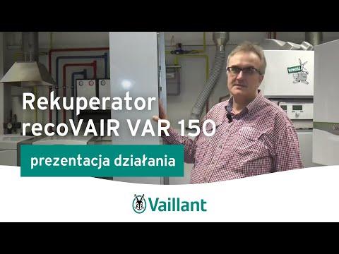 Rekuperator recoVAIR VAR 150 - Vaillant Polska