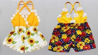 DIY Designer Baby Jumpsuit\Baby Romper Cutting And Stitching Full Tutorial
