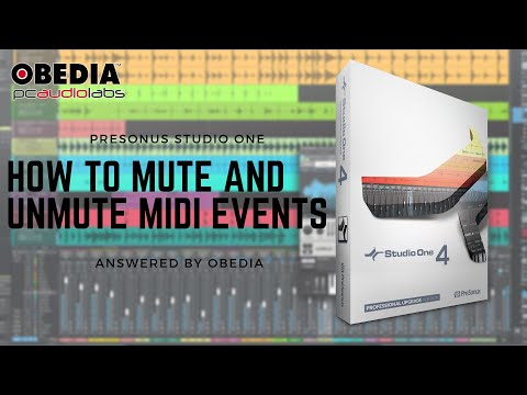 Get Started with Studio One: How to mute and unmute MIDI events