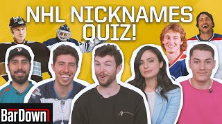 CAN YOU PASS THIS NHL NICKNAMES QUIZ?
