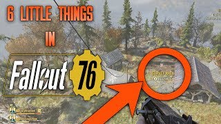 6 Little Things I Discovered While Playing Fallout 76