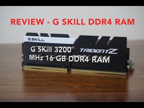 Review GSkill RAM 3200 MHz DDR4 RAM Gaming And Adobe Premier Performance