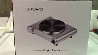 SUNAVO 1500W Electric Hotplate Burner Review