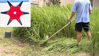 6 blade weed whacker attachment cutting tall grass