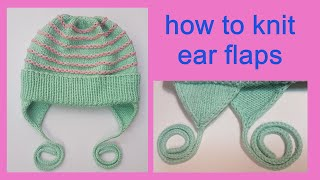 How to knit ear flaps for a hat. Detailed tutorial.