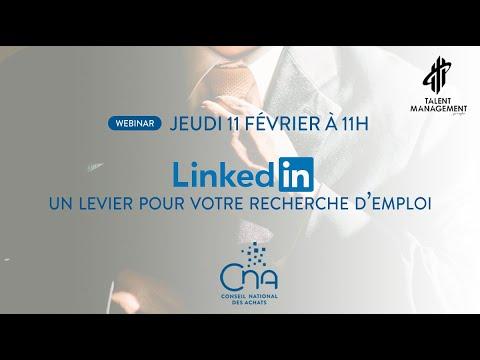 Replay webinar | Linkedin : Un levier pour votre recherche d'emploi !
