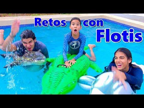 CARRERAS con INFLABLES en la PISCINA | TV Ana Emilia