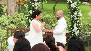 Nakakaiyak! The Exchange of VOWS—LOTLOT & FADI Wedding!