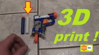 Printed NERF Dart with a 3D printer - it works ?