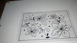 Sketsa Bunga Lukisan Bunga Batik Simple