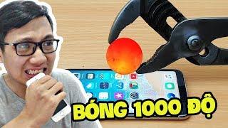 QUẢ BÓNG 1000 ĐỘ ĐẬP CHÁY ĐIỆN THOẠI IPHONE X!!! (Sơn Đù Vlog Reaction)