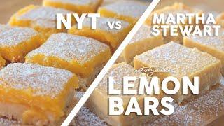 The Ultimate Lemon Bar Recipe (NY Times Vs Martha Stewart)
