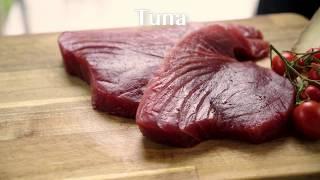 Tagliata di tonno con verdure fresche croccanti