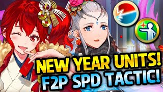 NEW YEAR UNITS + FREE EIR WITH SPD TACTIC! - Renewed Spirit Banner Review - Fire Emblem Heroes [FEH]