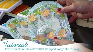 How to create multi-colored 3D stamped image the EZ way!