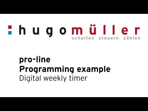 pro-line - Programming example digital weekly timer