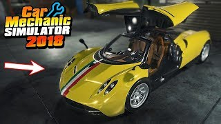 CRASHED PAGANI HUAYRA - Car Mechanic Simulator 2018