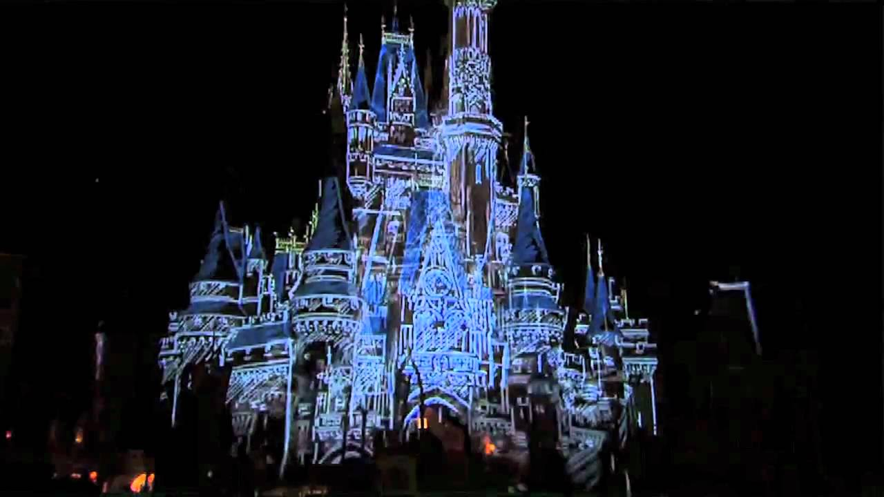 Let the Memories Begin - Cinderella Castle Projection test
