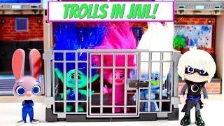 Trolls Movie Poppy Branch Guy Diamond Go to JAIL! PJ Masks Luna Girl Night Ninja Trick Them!