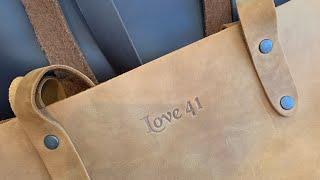 Full Grain Leather: Simple Tote & Purse Organizer