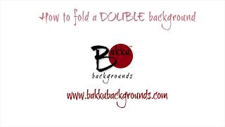 How to fold a Double Bakku Background