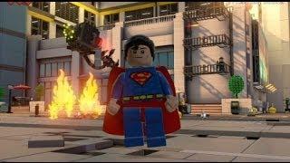 The LEGO Movie Videogame Walkthrough Part 17 - Bricksburg Under Attack (Superman & Green Lantern)