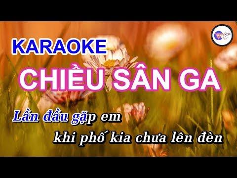 Chiều Sân Ga || KARAOKE HD || Beat Chuẩn