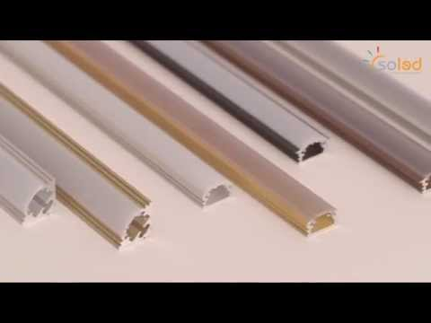 LED alu profile for LED strips, Profile aluminiowe LED do taśm LED. SOLED.pl
